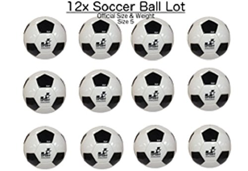 (Lot of 12) Soccer Balls Size 5 Bulk Wholesale