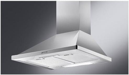 Smeg KD6X - Campana (430 m³/h, Canalizado/Recirculación, 55 dB, De pared, Plata, 40 W): Amazon.es: Hogar