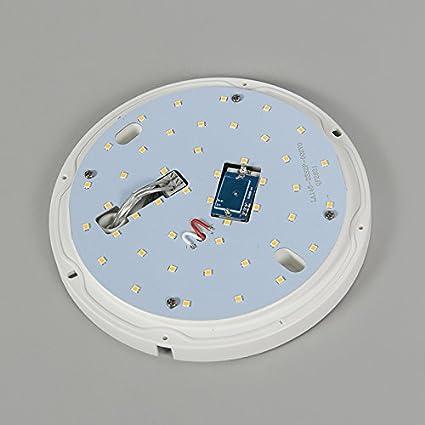QAZQA Moderno Plafón UNITED 8W redondo blanco con sensor Plástico Redonda Incluye LED Max. 1 x 8 Watt: Amazon.es: Iluminación