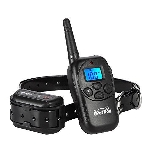 iPetDog Dog Training Remote Collar LCD Waterproof Beep Vibra 330 Yards Rechargeable Rainproof