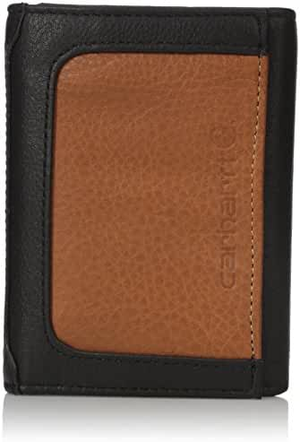 Carhartt Men's Black and Tan RFID Blocking Trifold