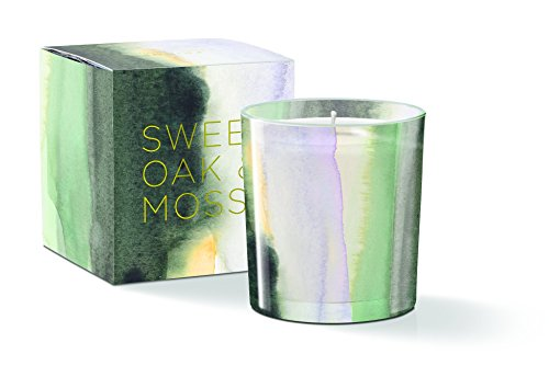 Water Study sunrise Round May Candle, Sweet Oak & Moss Scent, 20+ Hours Burn Time (556132) (Scents Candles Sunrise)
