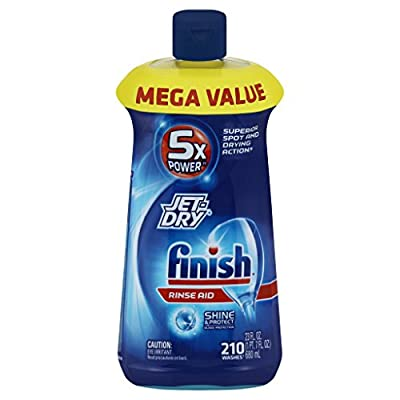 Finish Jet-Dry Dishwasher Rinse Aid Agent, Removes Spots, Glass Protection