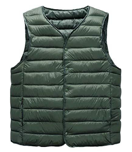 Jacket 2 Button Men's Waistcoat Down Down Coat Packable security Puffer Vest 4qBwZ