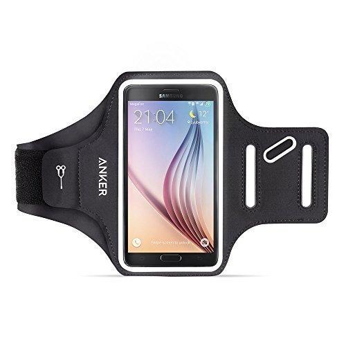Anker universal 5 Zoll Sport Armband für Handy, Tragehülle für Smartphones mit 4.7 - 5.2 Zoll Bildschirm Inklusive iPhone 7 6 6s, Samsung S6 / S6 edge, Samsung S7 und Weitere, mit Schlüssel, Karten und Kopfhörer Kabel Fächern