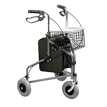 Homecraft - Andador de aluminio con tres ruedas: Amazon.es ...