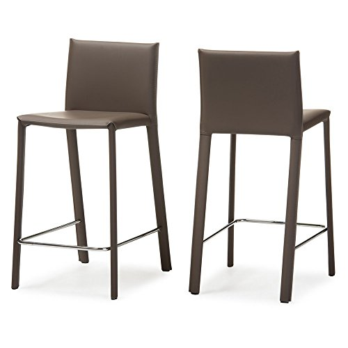 Baxton Studio 2 Piece Crawford Modern and Contemporary Leath