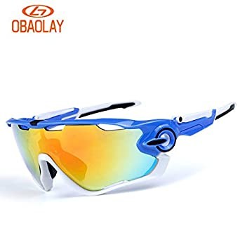 3b51970d4a23d Lepakshi 0092708  Obaolay 5 Lens Polarized Cycling Glasses Bike Goggles  Outdoor Sports Bicycle Sunglasses Hiking