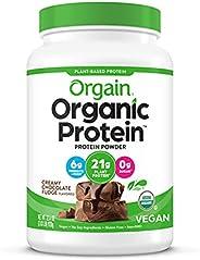 Orgain Organic Plant Based Protein Powder, Creamy Chocolate Fudge - Vegan, Low Net Carbs, Non Dairy, Gluten Fr