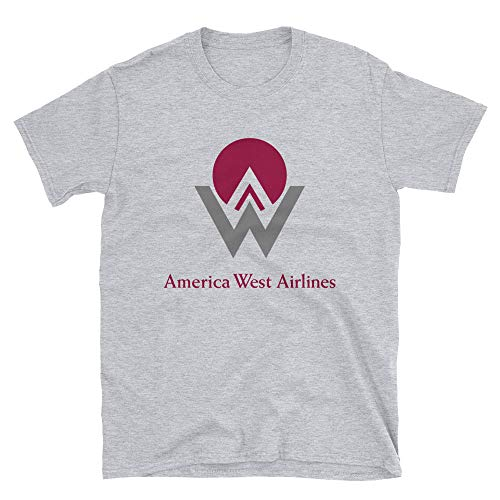 - America West Airlines Unisex T-Shirt Sport Grey