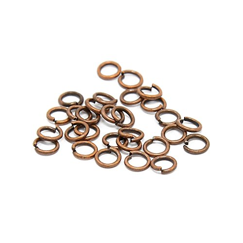 Pandahall 120pcs/10g Brass Round Jump Rings Close but Unsoldered Jewelry Findings Accessories Necklace Connectors Chain Links Red Copper