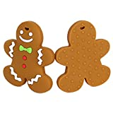 Amyster 20pcs Baby Teething Chew Toys BPA Free Safe Silicone Villain Teether Gingerbread Man Silicone Pendants DIY Crafts Baby Teether (20pcs)