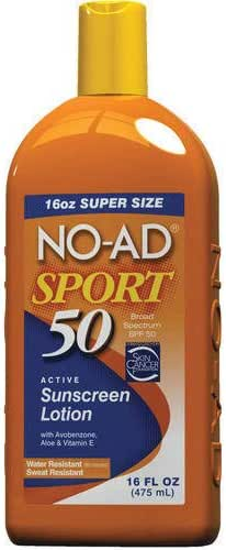 No-Ad 00220 Sport Sunscreen Lotion, 16-Ounce