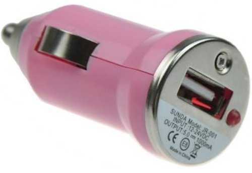 USB Car Charger Adapter - Pink (Various Colors Available) from celtalux.com / celtalux@ebid.net