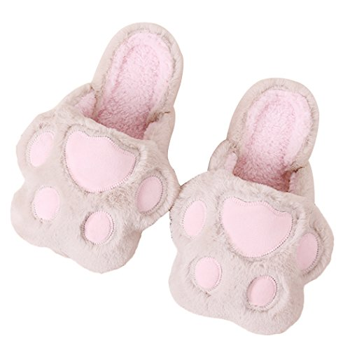Miyang Inverno Simpatico Gatto E Cane Caldo Pantofole Casa Stivaletti Impronta-kaki