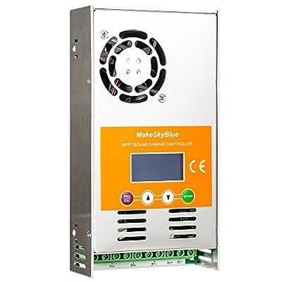 MakeSkyBlue 60A MPPT Charge Controller LCD Display Max Input 160V 2800W Solar Panel V119 WiFi APP Connection Auto for 12V/24V/36V/48V Solar System (60A-V119-WiFi) : Garden & Outdoor