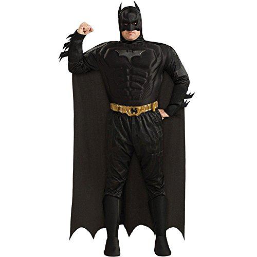 Warner Bros. Men's Batman The Dark Knight Rises Muscle Chest Deluxe Plus Size Costume Plus Size