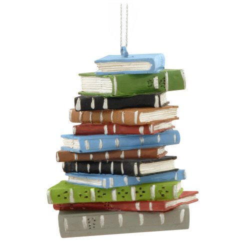 1 X School Book Stack Ornament Christmas Tree Ornament Decoration Deal (Large Image)