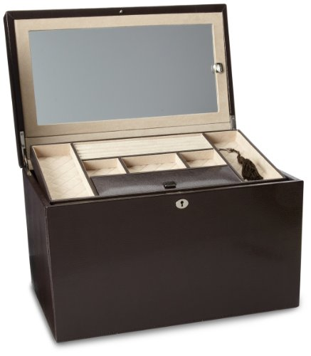 WOLF 315006 London Large Jewelry Box, Cocoa by WOLF (Image #1)