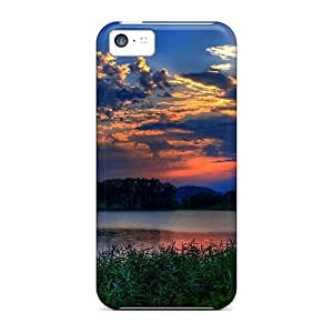 New Style Case Cover TkODj6560fCMzj Glorious Sunrise On The Lake Compatible With Iphone 5c Protection Case