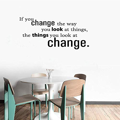 Vinyl Removable Wall Stickers Mural Decal If You Change The Way You Look at Things The Things You Look at Change for Living Room ()