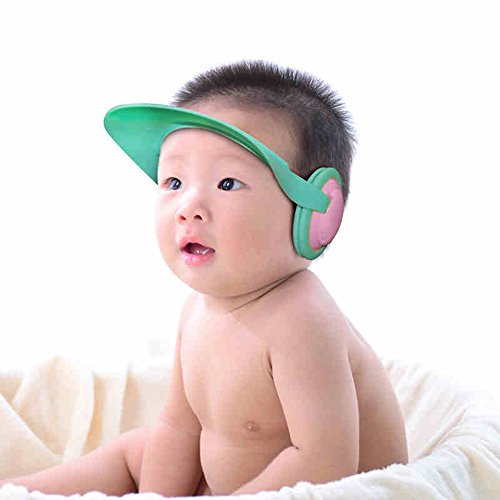 Children Earmuff Shampoo Bath Bathing Shower Cap Hat Wash Hair Shield for Baby Boys Girls - Class Usps Delivery First Times
