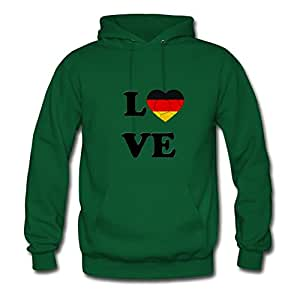 Different Fashionalble Personalized Hoody Cotton Love Germany Soccer X-large Women Green