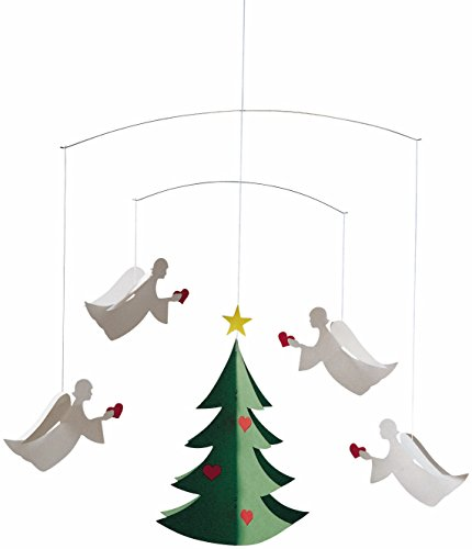 Flensted Mobiles Angels Of Love Hanging Mobile - 17 Inches Cardboard by Flensted Mobiles