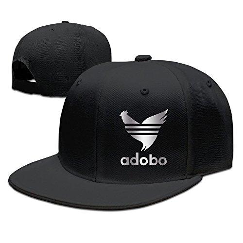 Chicken Adobo Filipino Platinum Style Baseball Snapback Hat Black (Chicken Hats)
