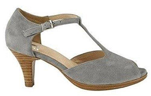 Patrizia Dini Sandalette - Sandalias de vestir de cuero para mujer gris - gris