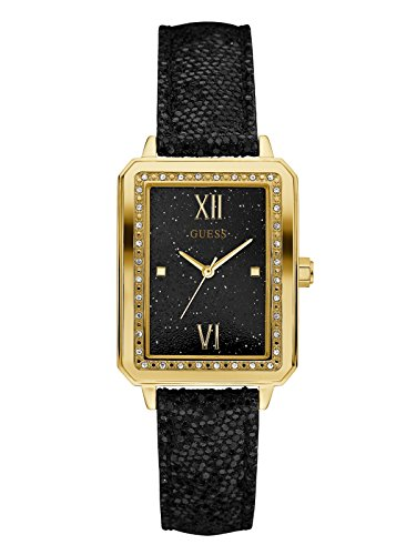 GUESS Factory Women's Black and Gold-Tone Rectangle ()