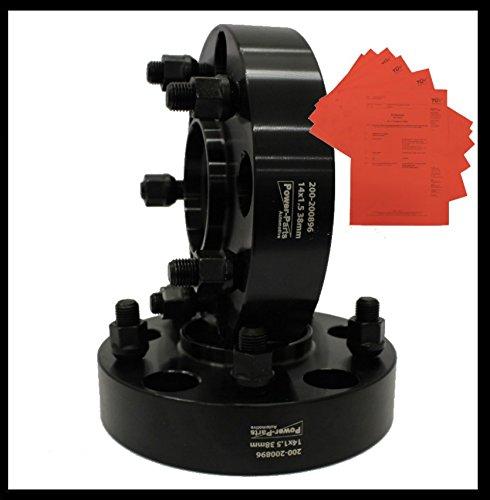 mit Mittelzentrierung und F/ührungslippe PAAR 38mm pro Seite // 76mm pro Achse Spurplatten Spurverbreiterung set 2 Stk mit Gutachten BLACK 14x1.5