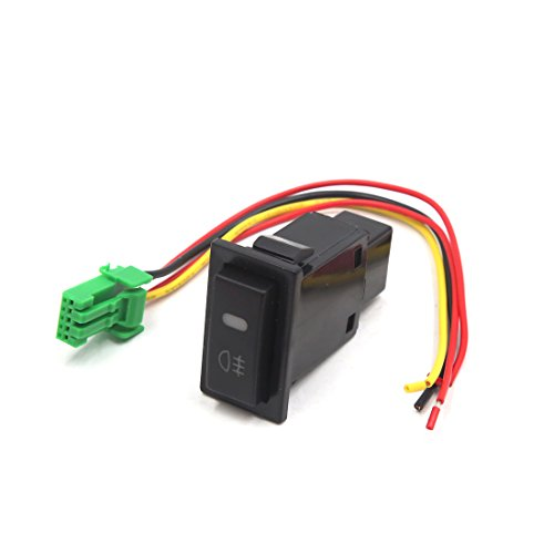 Toyota Fog Light Switch - uxcell Black Plastic Shell 5 Pin Push Button Car Fog Light Switch for Toyota Camry