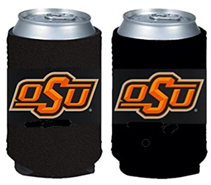 NCAA Oklahoma State Cowboys Logo Color Can Kaddy Holder Cooler 2-Pack