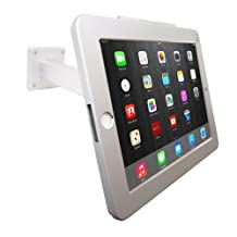 iPad Wall Mount / Desktop Anti-theft POS Stand Enclosure with Security Lock & Keys Kiosk for ipad 2/3/4 Air