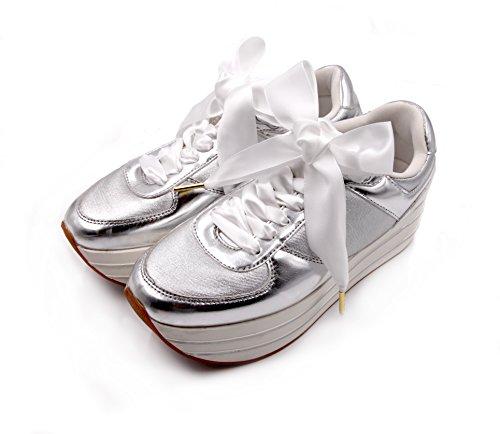 Puma Solide Adidas ZORESS Bianco per VANS modo Satin Leale di Nike Converse Donne Scarpe Trainers Lacci Reebok per qRZq0Hfw