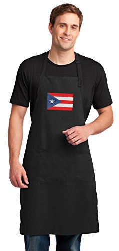 Broad Bay Puerto Rico Flag Apron Large Puerto Rico Aprons for Men or Women -