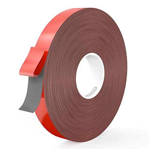 (LLPT Double Sided Tape Acrylic Weatherproof Removable Residue Free Strong Adhesive Mounting Tape Multiple Sizes Available 0.4 Inch x 108 Feet Gray(GA408))