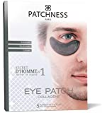 Patchness - Eye Patch Black Homme - Patch Anti-Cernes Collagène - Acide Hyaluronique 5 Paires