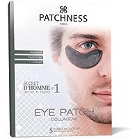 Patchness - Eye Patch Black Homme - Patch Anti-Cernes Collagène - Acide Hyaluronique 5 Paires