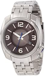 Vince Camuto Men's VC/1000GNSV The Pilot Gunmetal Dial Date Function Silver-Tone Watch
