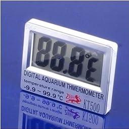 HK LCD Digital Fish Tank Wireless Sensor Out Aquarium Thermometer Marine KT-500