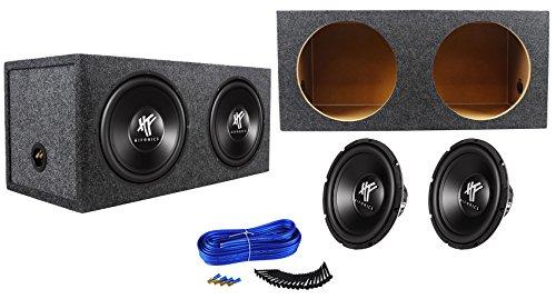 (2) Hifonics HFX12D4 12″ 1600w DVC 4-Ohm Car Subwoofers+Sealed Sub Box Enclosure