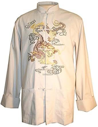 503 JK Oriental Mandarin Kung Fu Tai Chi Top Jacket (2X, Off White)