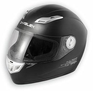 Amazon.es: A-pro Full Face Visera Casco Moto Race fibra de vidrio casco integral Matt Negro L