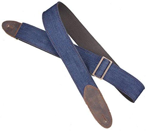 (LM Products D1-BL Denim Guitar Strap, Blue)