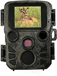 Mini Trail Camera 12MP 1080P Low Glow Infrared Night Vision Motion Activated Hunting Camera 2.0 Inch Display F