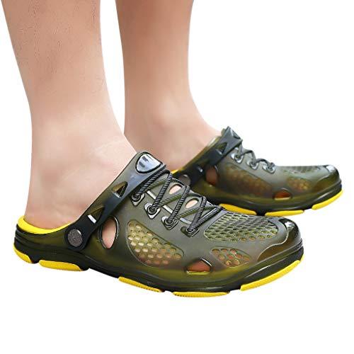 YEZIJIN Hot Sale! Summer Casual Men's Flats Breathable Antiskid Sandals Slippers Beach Hole Shoes Slipper Heels Platform Flats Shoes for Women Ladies Girl Indoor Outdoor Clearance 2019 Best by YEZIJIN_Women's Sandals (Image #1)