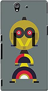 DailyObjects Yellow Alphabet Man Case For Sony Xperia Z