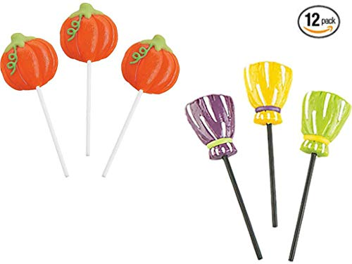 Lil' Pumpkin Party and Witch's Broom Frosted Lollipops